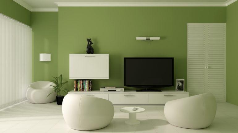 Màu xanh lá cây tạo không gian tươi mới và năng động