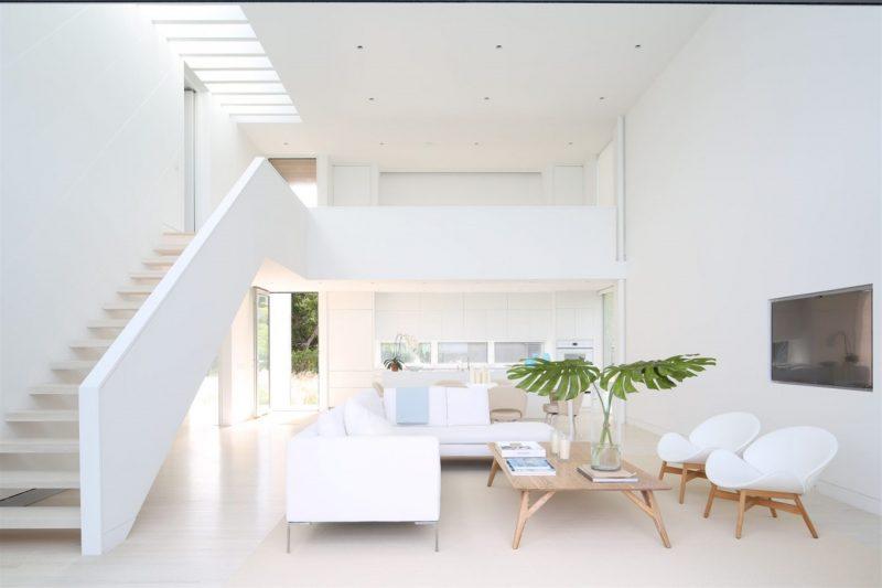Gam màu trắng trong trang trí sơn nhà