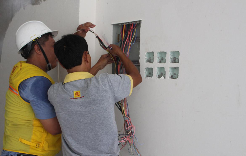 Thi công hệ thống điện cho ngôi nhà mới