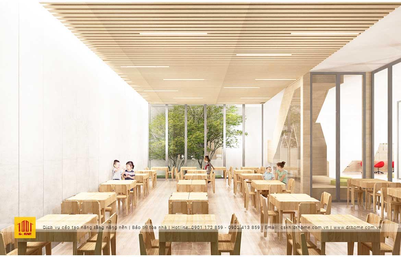 Không gian thiết kế bên trong trường mầm non