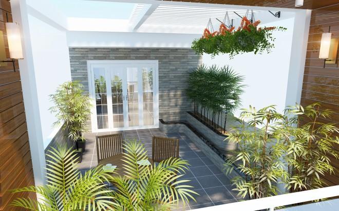 Vườn trên mái là một cách chống nóng sân thượng hiệu quả.