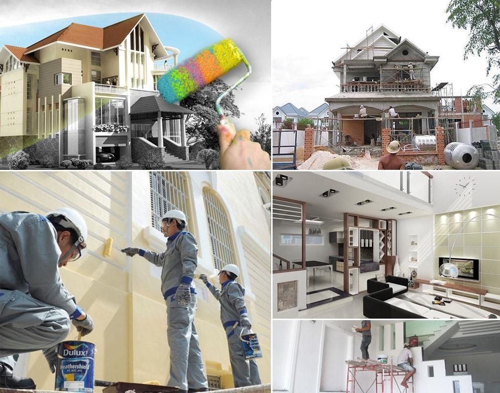 Thi công sơn sửa nhà