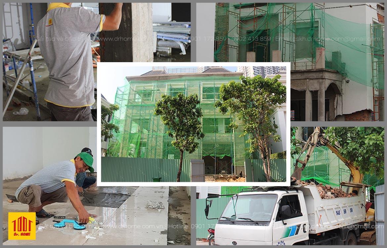 Dr. Home thi cong hoan thien biet thu Vinhomes Central Park tai Binh Thanh