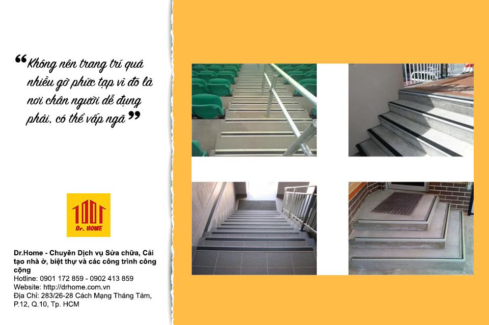 Cần chú ý khi thiết kế mép cầu thang trong nhà