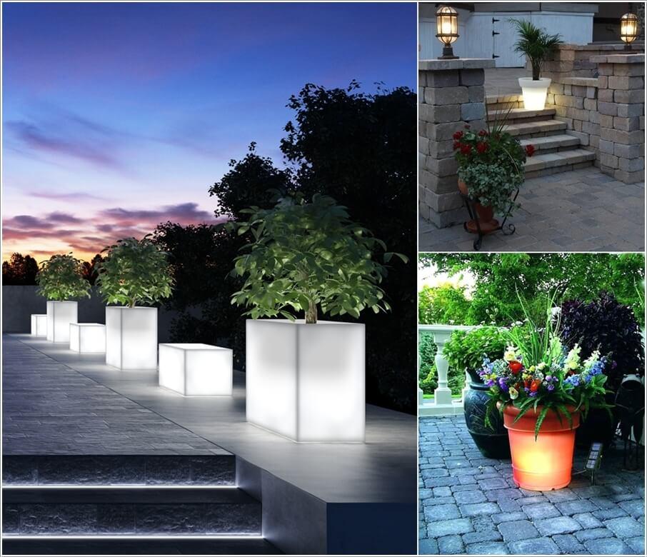 Thiết kế ánh sáng cho chậu cây