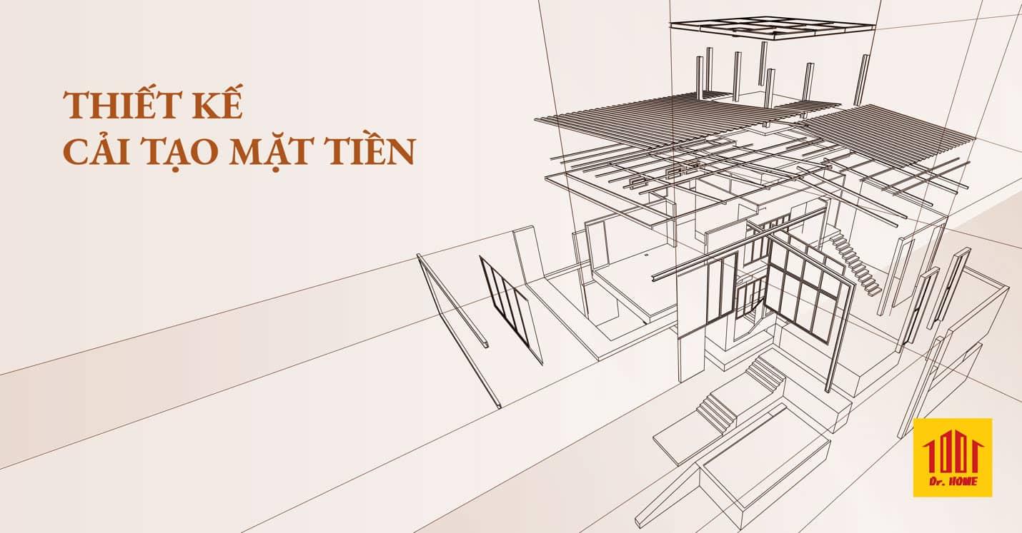 Thiết kế cải tạo nhà, cải tạo mặt tiền nhà