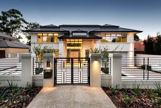 Cải tạo mặt tiền nhà trở nên sang trọng và hiện đại
