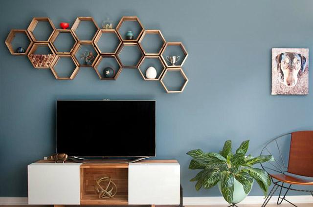 Trang trí tường bằng các vật dụng nội thất