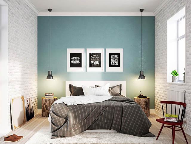 Phòng ngủ không gian nhỏ với ánh sáng của tự nhiên