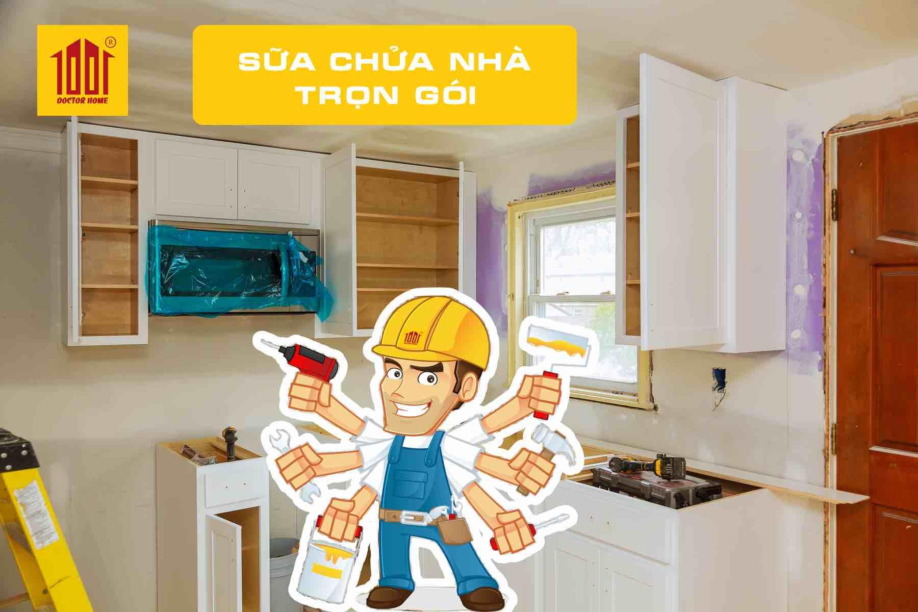 Sửa chữa nhà trọn gói giá rẻ tại TPHCM