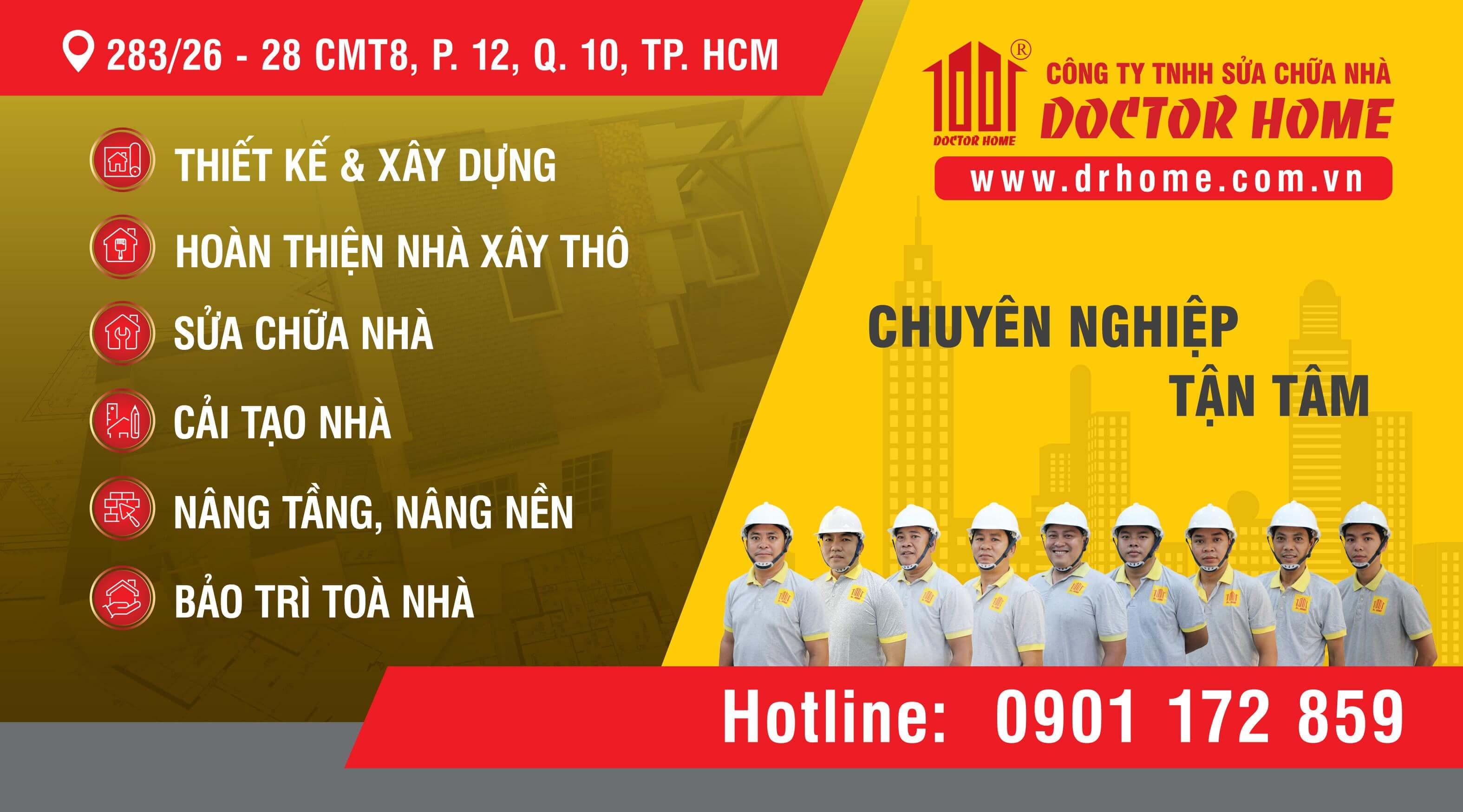 Banner Cong ty TNHH Sua chua nha Dr Home