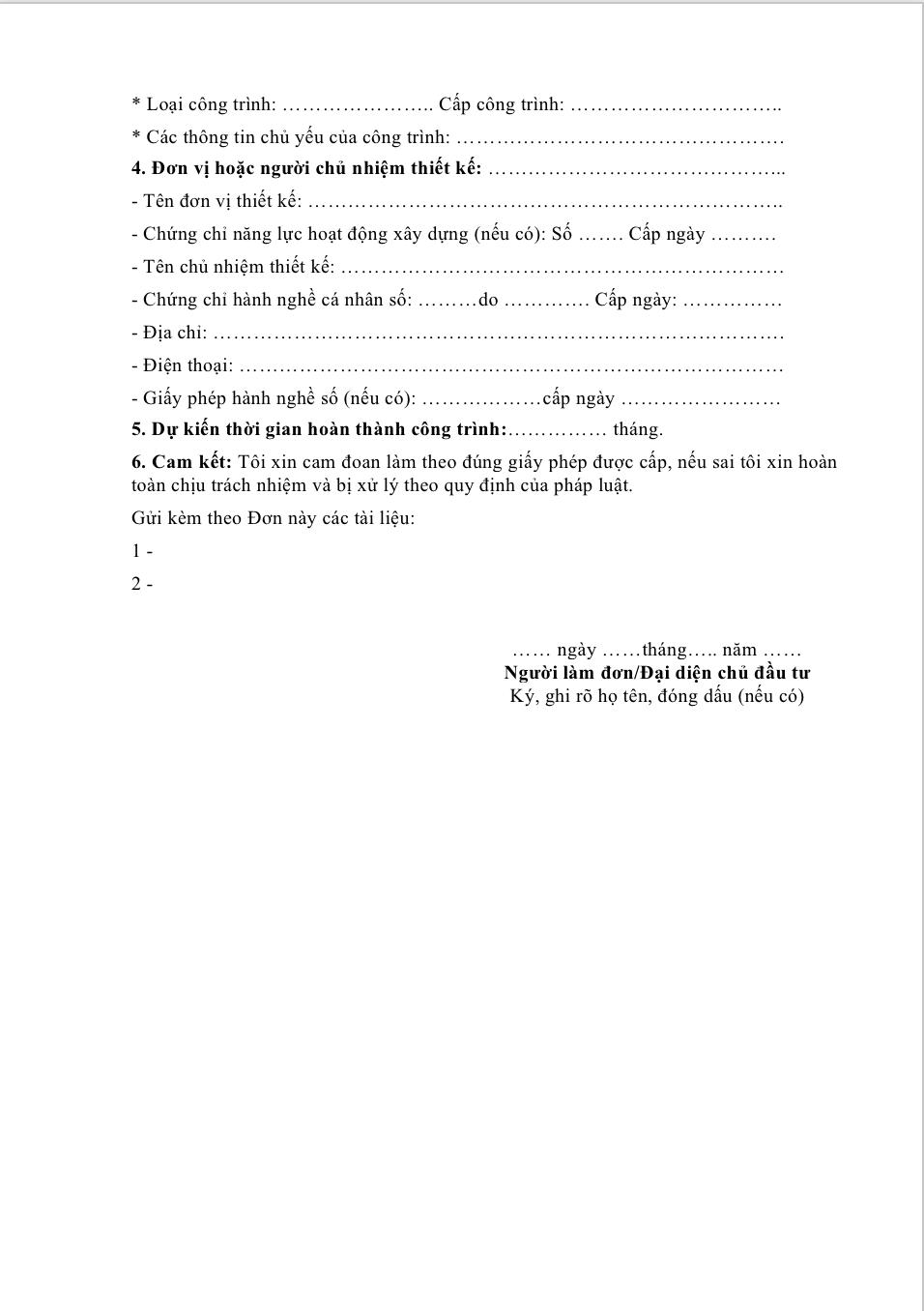 Don xin cap phep xay dung TPHCM 3