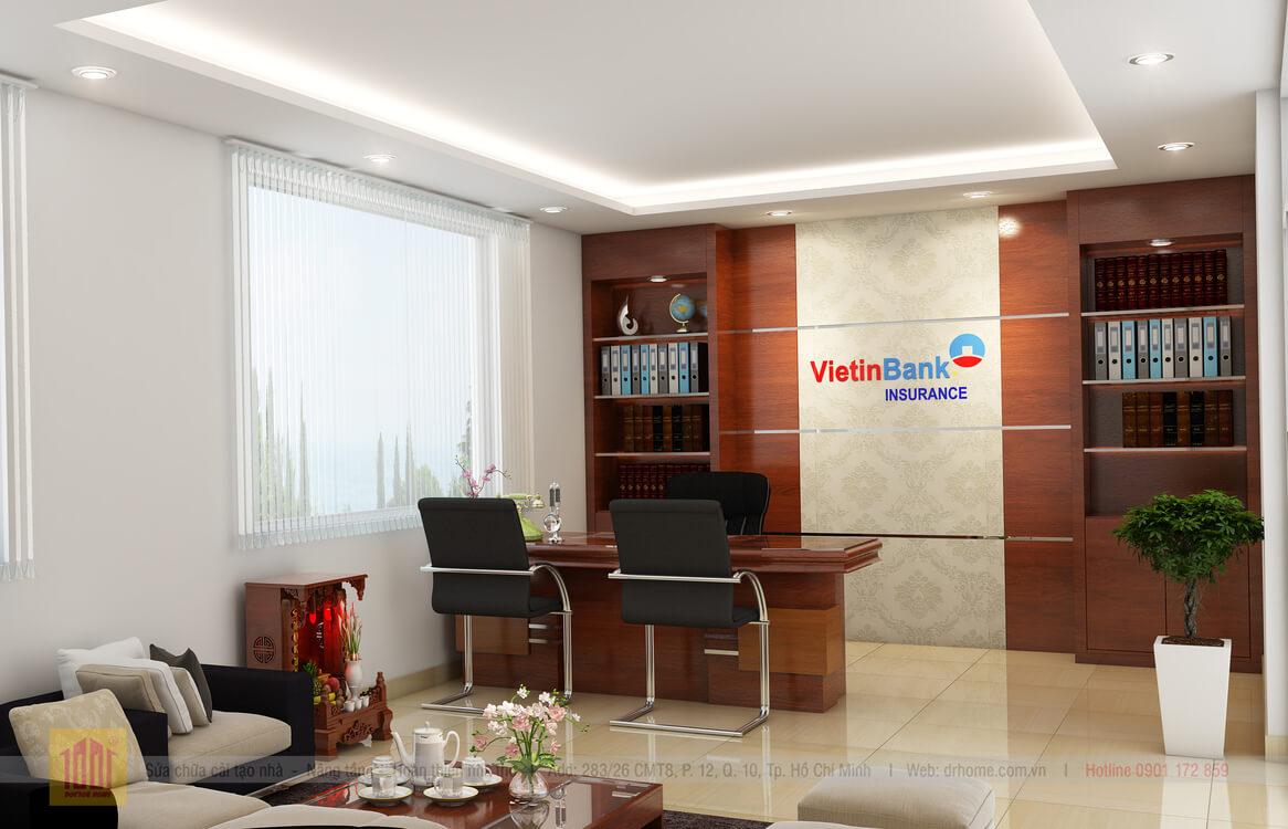 Doctor Home thiet ke phong giam doc van phong Vietinbank Quan 3 TPHCM