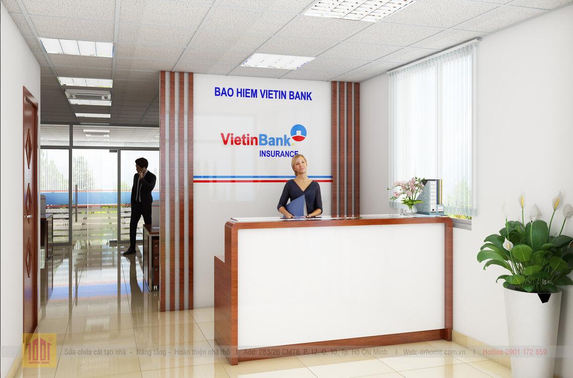 Doctor Home thiet ke quay tiep tan van phong Viettinbank Quan 3 TPHCM