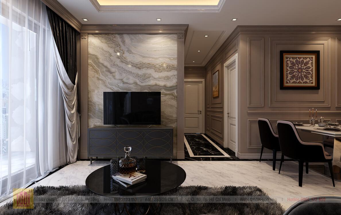 Dr. Home thiet ke cho A Thuy-Livingroom-View01
