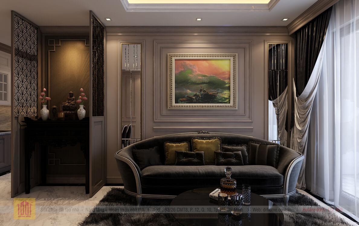 Dr. Home thiet ke cho A Thuy-Livingroom-View02