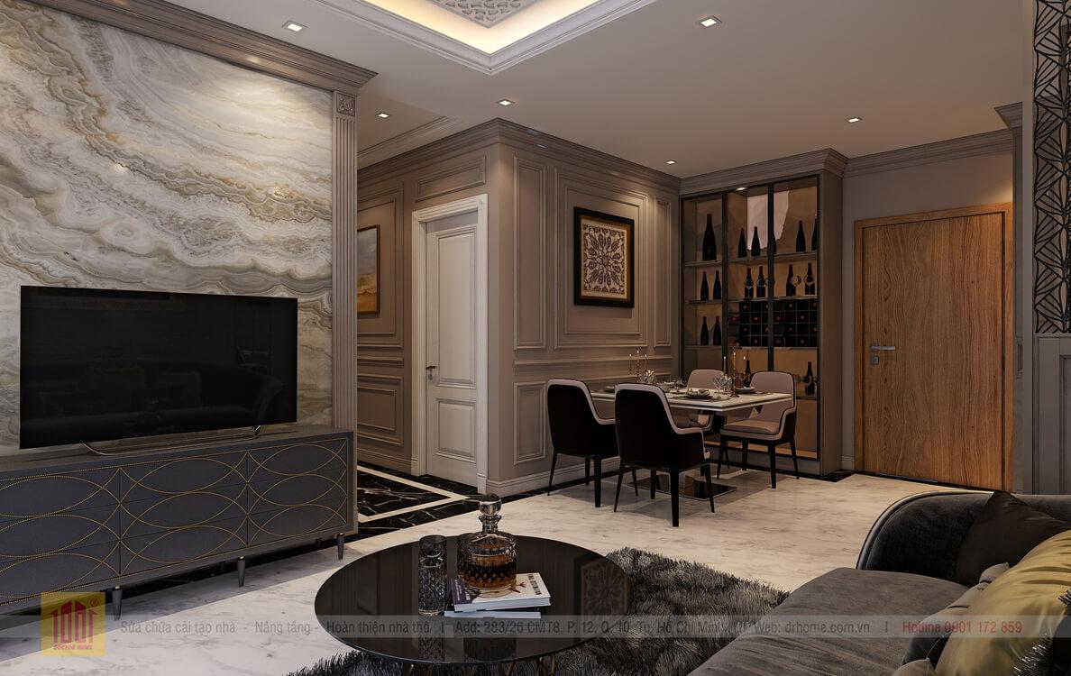 Dr. Home thiet ke cho A Thuy-Livingroom-View03