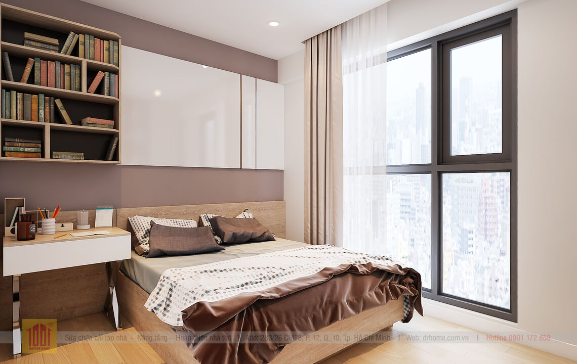 Doctor Home thiet ke hoan thien can ho giao tho chi Quynh A2502-P Ngu 2-View03