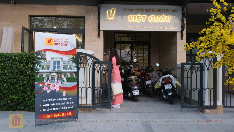 Tru so cong ty xay dung Viet Quoc Group - Doctor Home tai dia chi 102 Harmona Verosa Park duong 291 phuong Phu Huu Quan 9