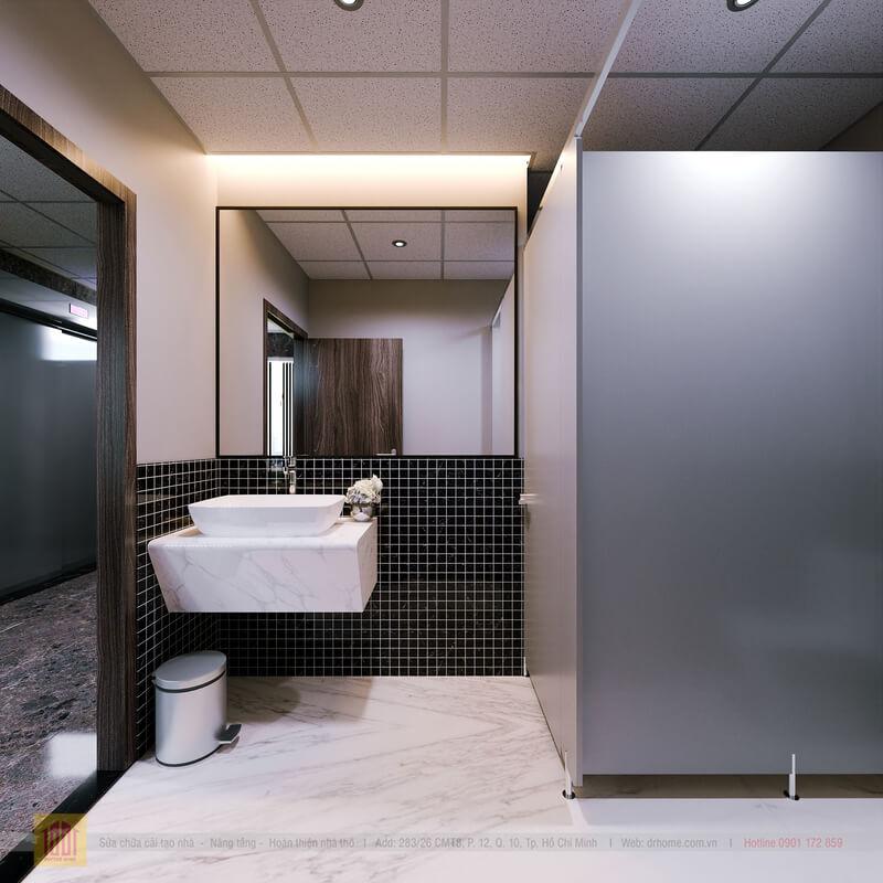 Doctor Home thiet ke WC toa nha van phong Quan 7