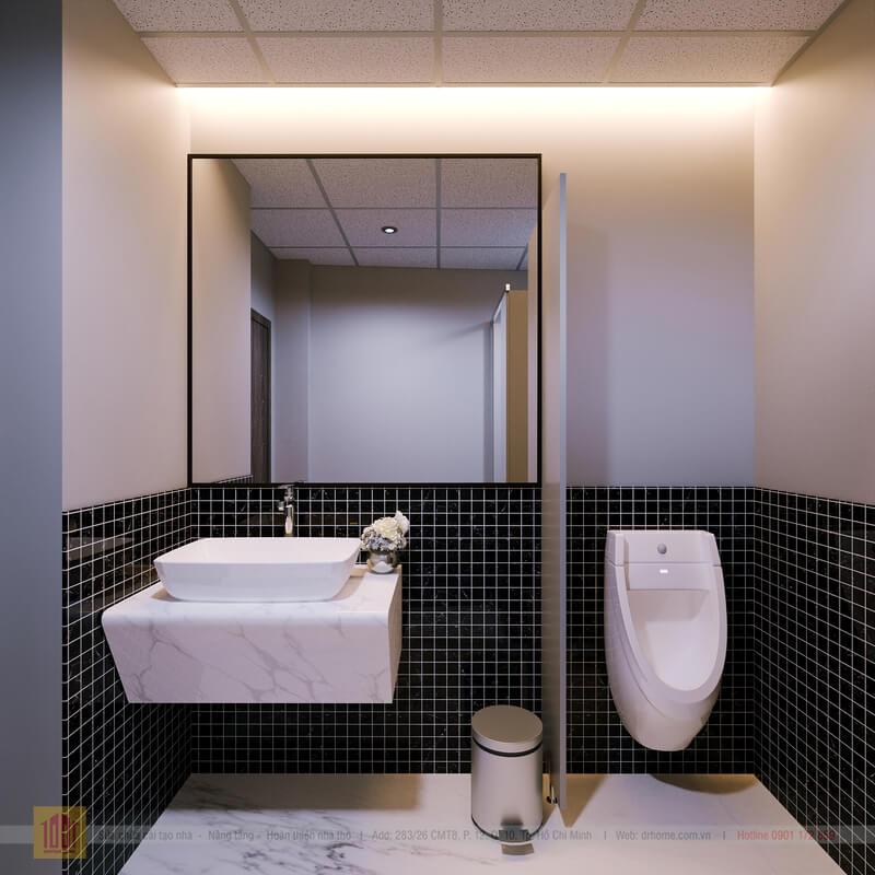 Doctor Home thiet ke cai tao WC view 3toa nha van phong Quan 7
