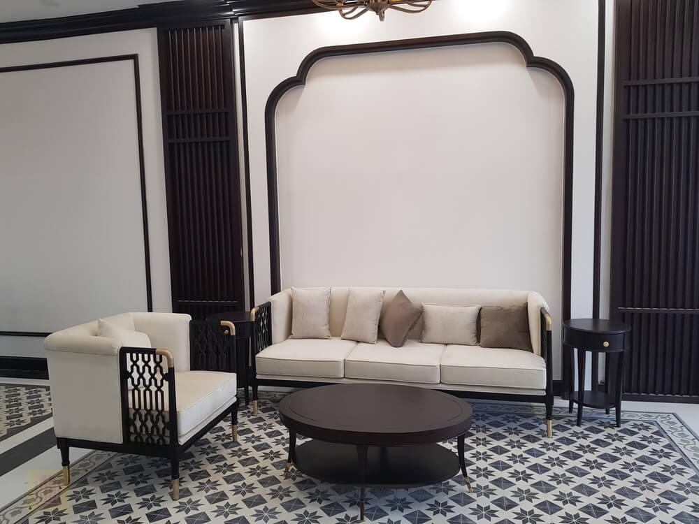 Sofa phong khach duoc Dr Home bo tri cho nha pho Verosa E6